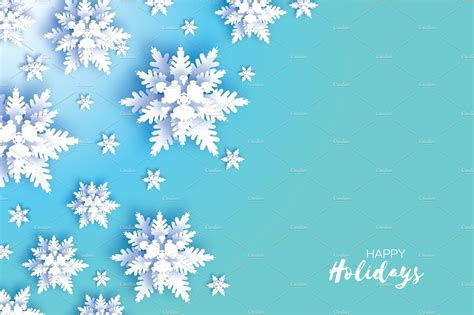 origami snowfall merry christmas  card white paper cut snow flake happy  year