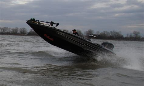 bass boat in rough water legend boat rough water test