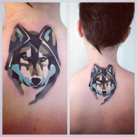 watercolor wolf tattoo style watercolor wolf hatherly