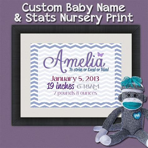 personalized baby wall decor personalized baby name stats wall decor for nursery