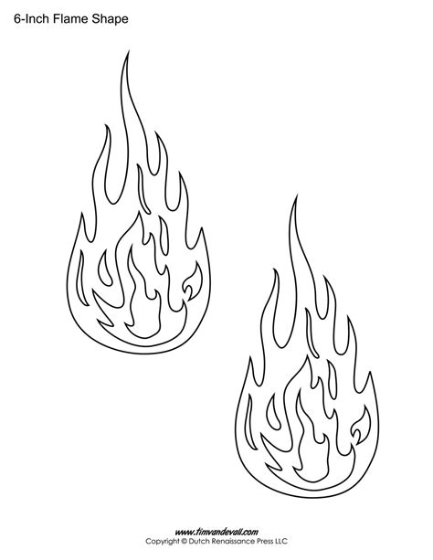 flames template printable stickers templates shapes
