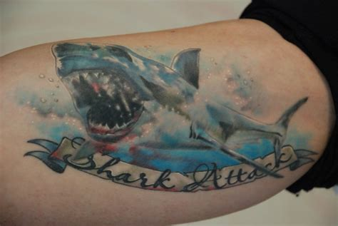 shark bite tattoo shark bite