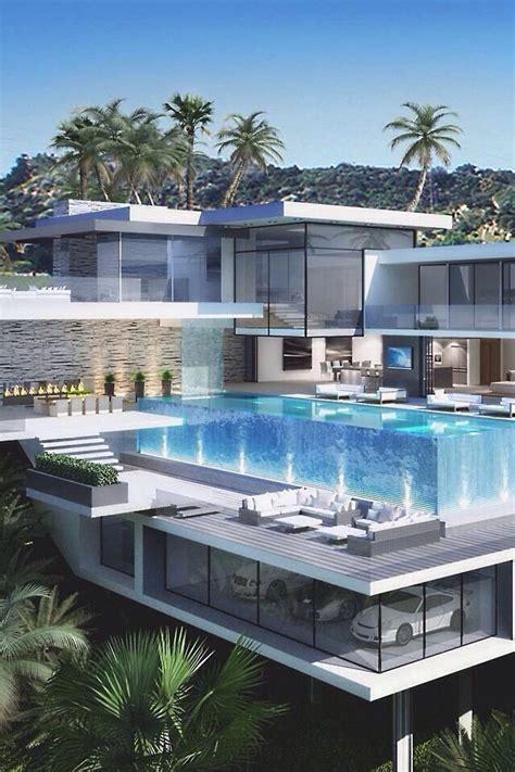 home concept design la riche luxus haus mit garage unter pool freshouse