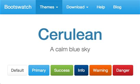 Bootstrap Themes Free Cerulean | cerulean free bootstrap theme