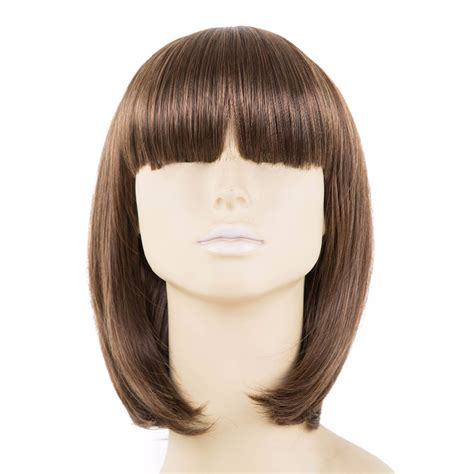 Review Fiber Wig by Brown Wig Bangs Fei Show Synthetic Heat Resistant Fiber