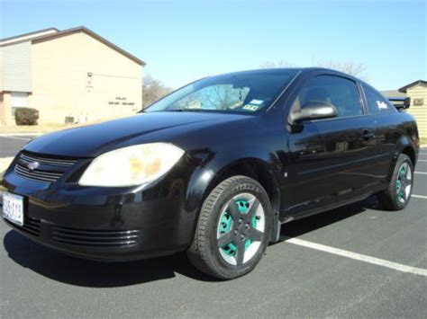 buy used 2007 chevrolet black cobalt ls coupe 2 door 2 2l manual w ss wing and alarm in hurst