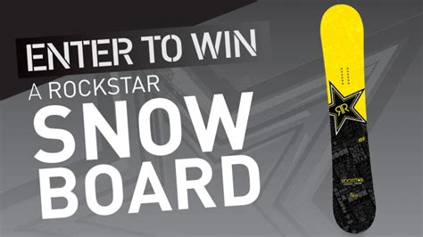 Snowboard Giveaway Contest - rockstar walters dimmick s snowboard giveaway rockstar energy drink