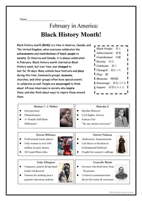 History Worksheets by Hd Wallpapers Black History Month Worksheets Middle School Wallpaper Desktop Whapd