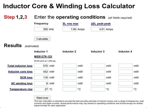 inductor power loss calculation boost inductor calculator 28 images calculation of inductor in boost converter 28 images