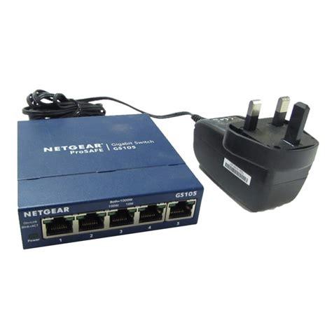 netgear prosafe 5 gigabit switch gs105 netgear gs105 v5 prosafe 5 gigabit switch with