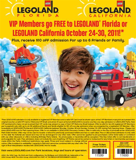 printable legoland tickets legoland free tickets printable coupon