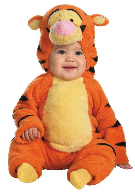 infant baby halloween costumes buycostumescom toddler deluxe tigger costume