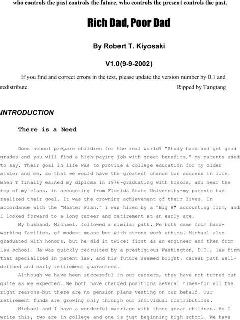 Pay for Rich Dad Poor Dad - Robert Kiyosaki