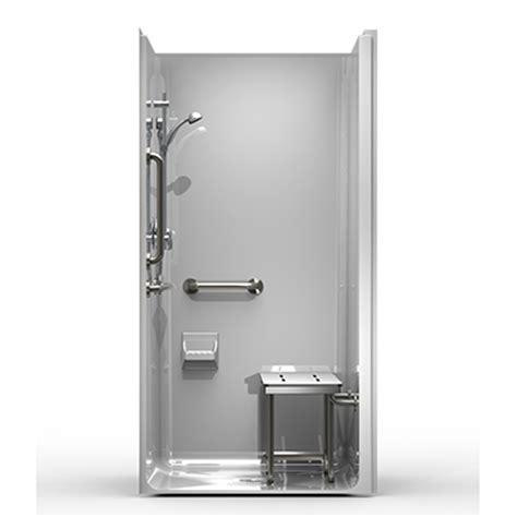 ada shower stall best bath systems video 5piece model 4lss4038a5t one piece ada transfer shower