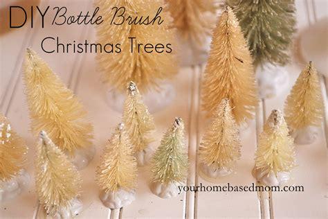 diy bottle brush christmas trees