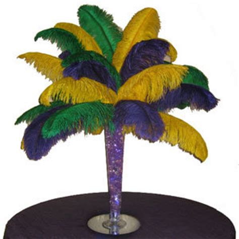 Cheap Mardi Gras Decorations by Designing With Ostrich Feather Plumes Drabs 5 Tips For