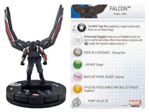 Miniatur Falcon 008 Captain America Civil War Marvel falcon 008 captain america civil war gravity feed marvel heroclix marvel captain
