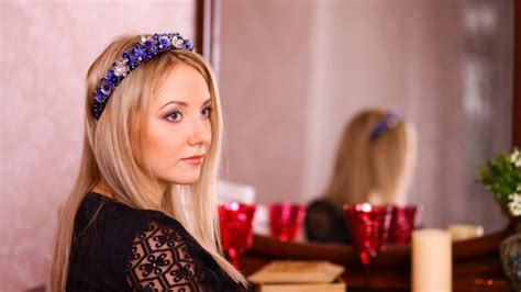 Royal Blue Hair Accessories For Weddings by Tiara Blue Beaded Headband Blue Wedding Headpiece Blue