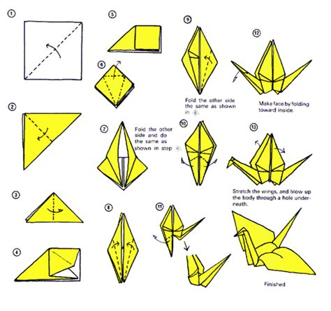 How To Make Origami Crane - artsnoob ing its thursday so make a paper crane