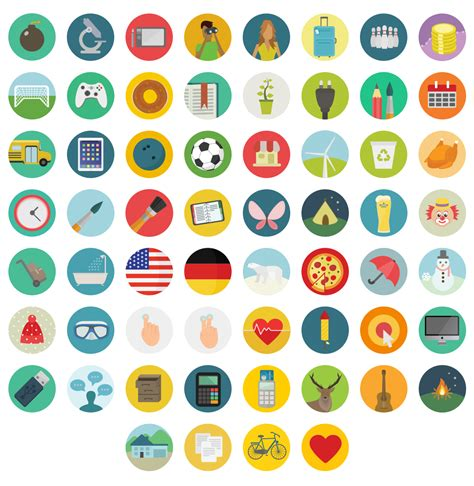 Free flat round icons set - Download free PNG web icons ...