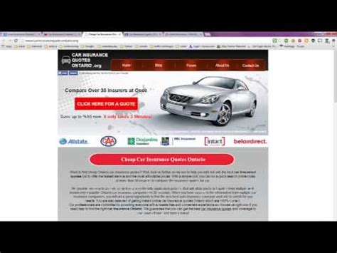 Auto Insurance Ontario Quote Canada   YouTube