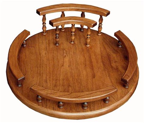 Wooden Lazy Susan Handmade - solid wood custom lazy susan with napkin holder napkin