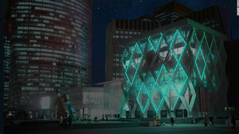 glow in the paint target glow in the cement could light up cities cnn