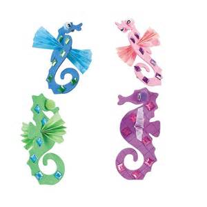 Seahorse Paper Plate Craft - best 25 seahorse crafts ideas on