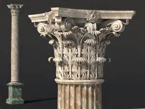 Ornate Cornice Corinthian Column 3d Model Sharecg