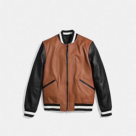 Coach F20910 Varsity Tote Black Khaki coach f56869 leather varsity jacket saddle black