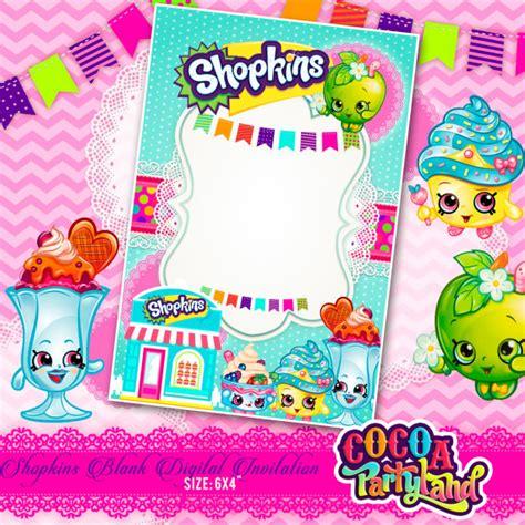 printable birthday cards shopkins shopkins blank digital invitation printable shopkins