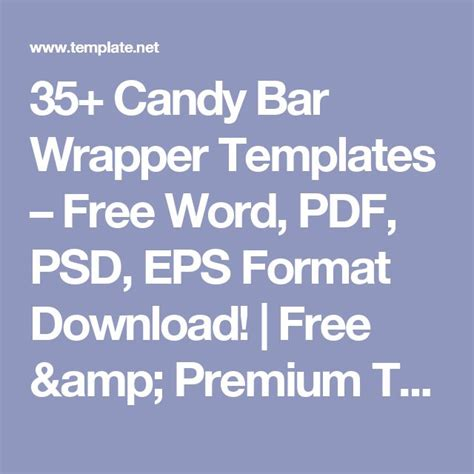 35 candy bar wrapper templates free word pdf psd eps