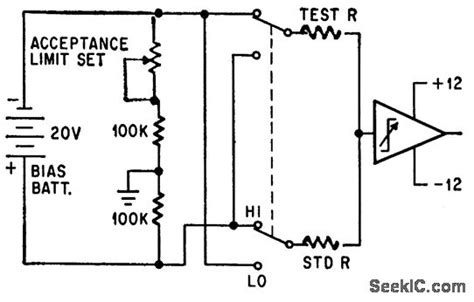 resistor tester circuit resistor tester lifier circuit circuit diagram seekic