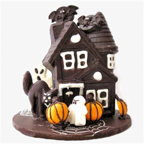 choco ghost house haunted house chocolate halloween