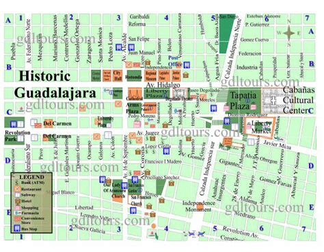 map of guadalajara map of guadalajara jalisco mexico httpwwwgdltourscommap