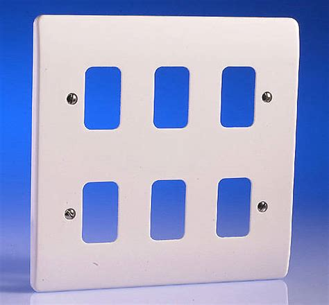Grid Switch 6 6 white grid plate