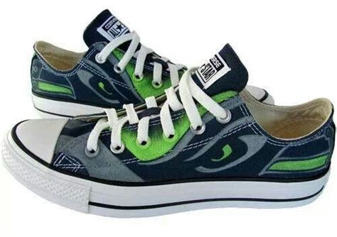 nfl shoes for fans best converse ever seahawks shoes nfl pinterest