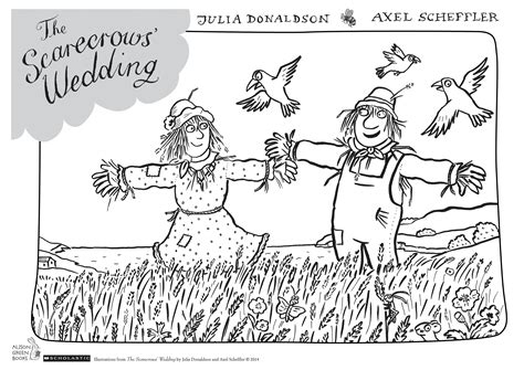 Cook S Illustrated the scarecrows wedding colouring sheet scholastic kids