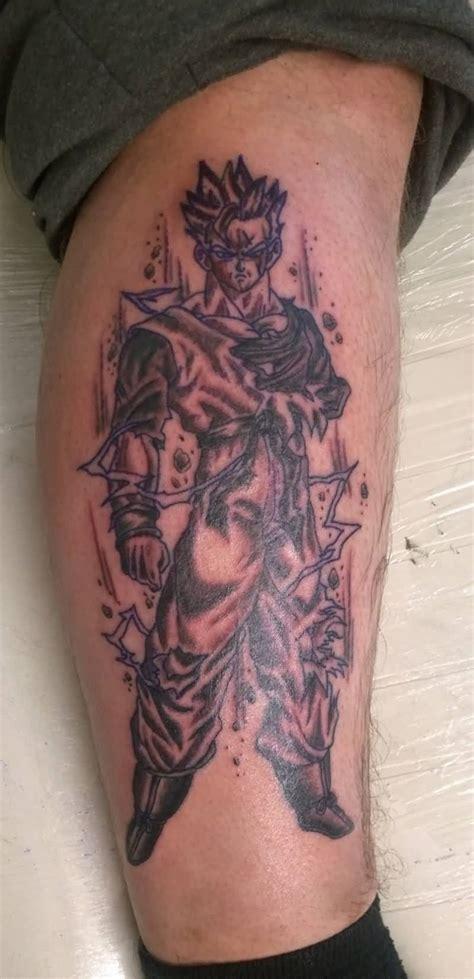 fantastic asian tattoo of dragon ball goku goluputtar com