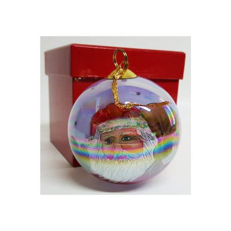 jcpenney christmas ornaments jcpenney collectibles inside painted glass santa ornament 1999 walmart