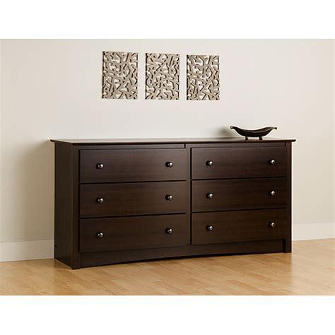 Espresso Dresser by Prepac Edenvale 6 Drawer Dresser Espresso Walmart