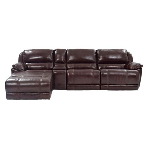 Theodore Brown Power Motion Leather Sofa W Left Chaise Power Motion Sofa Leather