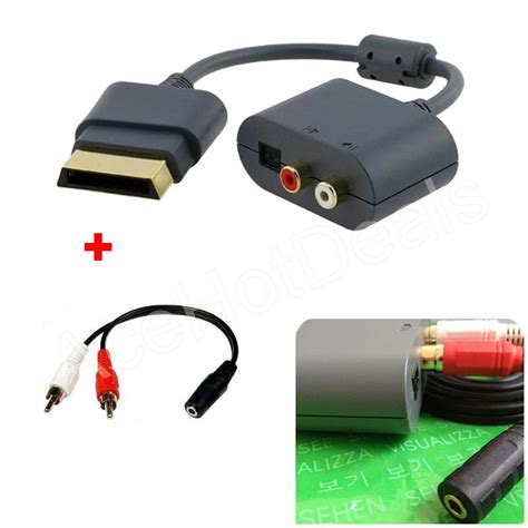 Adaptor Xbox optical audio adapter for xbox 360 hdmi av cable 3 5mm