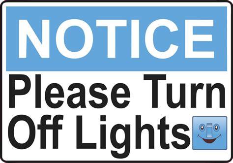 turn light turn the lights sign pixshark com