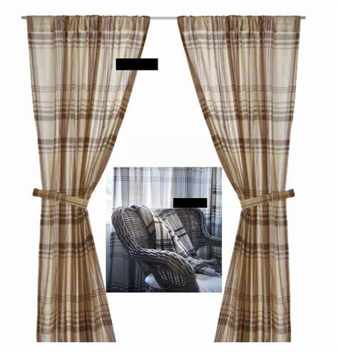 plaid curtains canada ikea benzy plaid curtains drapes 2 panels beige tan gray