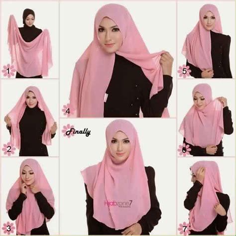 tutorial jilbab terbaru cara pemakaian jilbab model terbaru