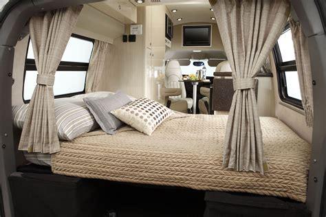b home interiors 2011 airstream avenue class b motorhome bed modern motorhome airstream