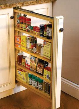 kitchen cabinet spice rack organizer refrigerator small conestoga wood specialties new products