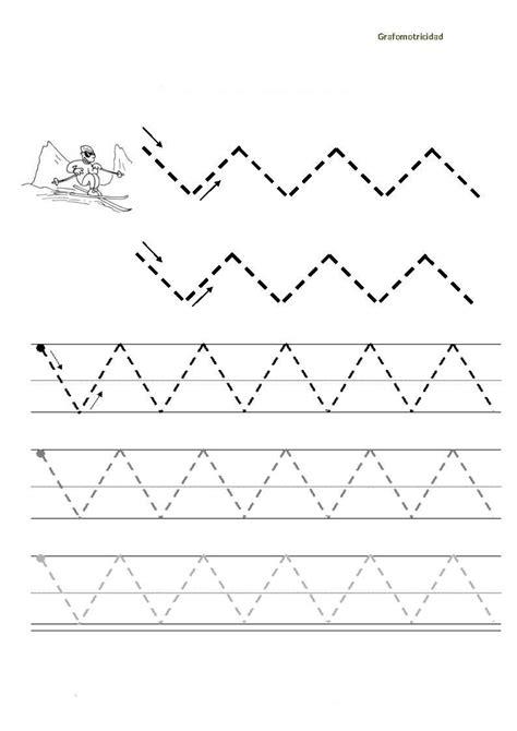 Lineas en Zig Zag: Grafomotricidad - Secretos Marlove