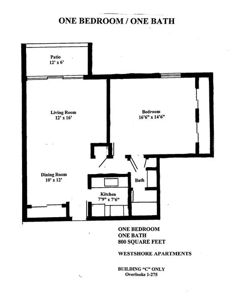 One Bedroom Apartment Square Footage 1 Bed 1 Bath Apartment For Rent In Ta Fl Westshore